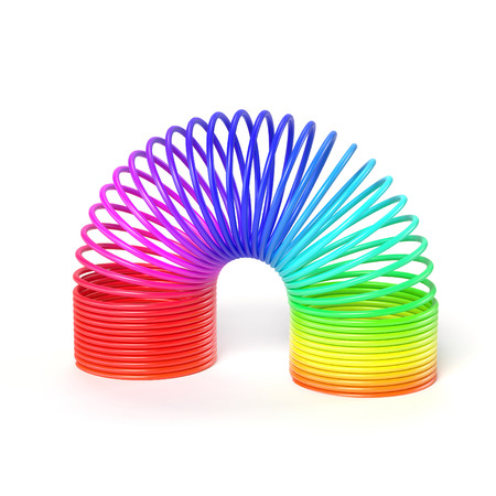 twist: colorful spring over white background Stock Photo