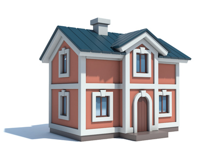Huis pictogram 3D-rendering