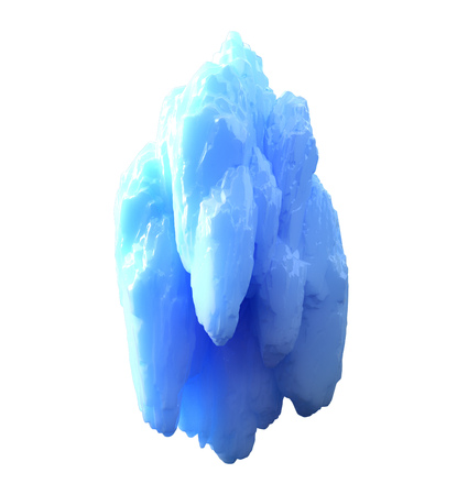 iceberg isolated on white background