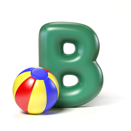 spells: Toy font letter B Stock Photo