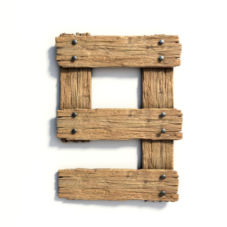 Wood font, plank font number 9 Stock Photo