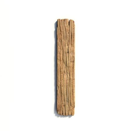 Wood font, plank font letter  I