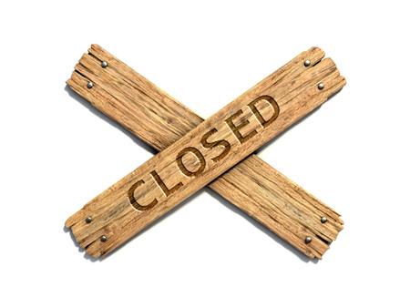 clavados: Dos tablones de madera cruzados clavados en la representación blanca del fondo 3d Foto de archivo