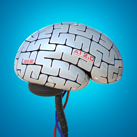 Artificial intelligence concept, bionic brain