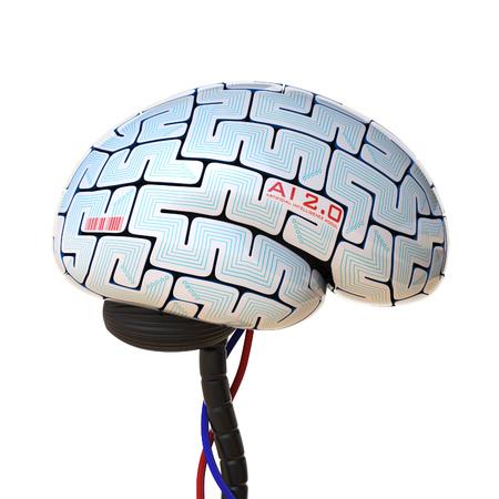 programming code: Artificial intelligence concept, bionic brain