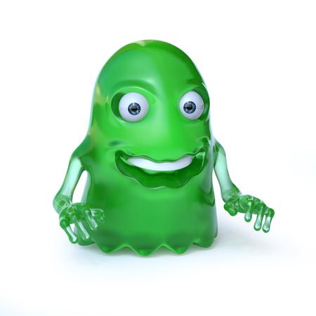 Alien monster 3d rendering Stock Photo