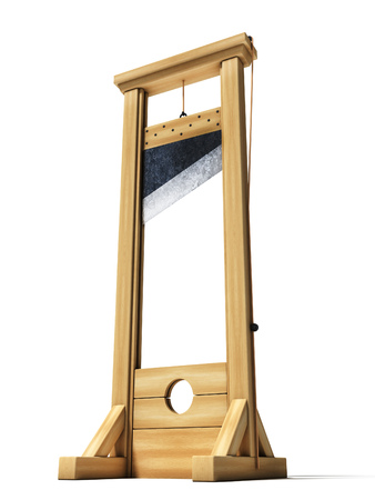 Guillotine 3d illustration