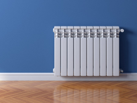 Heating radiator, heating system 3d rendering
