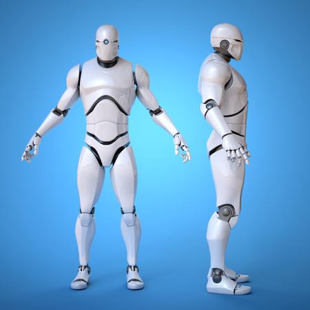 Robot futuristic design concept