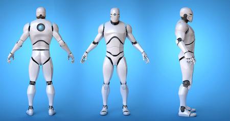 thinking machines: Robot futuristic design concept