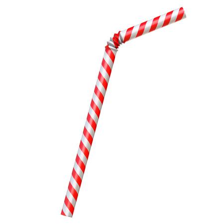 Drinkend stro dat op witte 3d teruggevende geïsoleerde illustratie wordt geïsoleerd Stockfoto