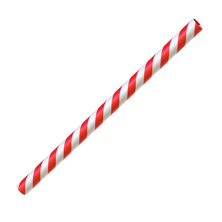 Drinking straw isolated on white 3d rendering isolated illustration