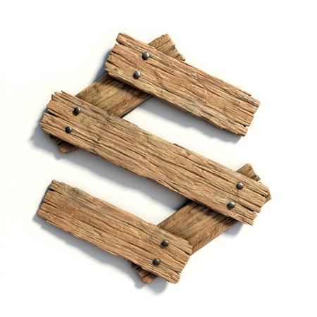 Wood font, plank font letter  S Stock fotó