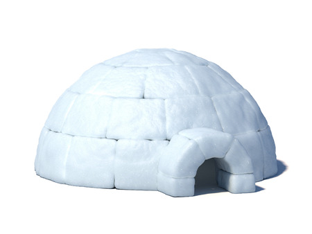 Igloo isolated on white background 3d illustration Stock Photo