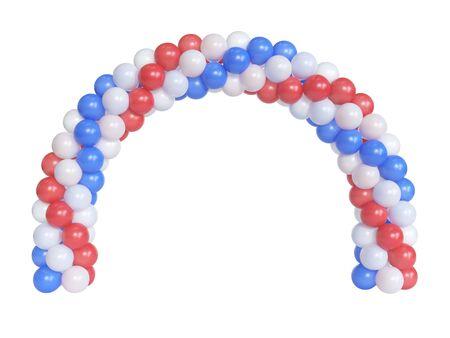 Arc made of balloons, balloon gate, portal, 3d rendering 版權商用圖片