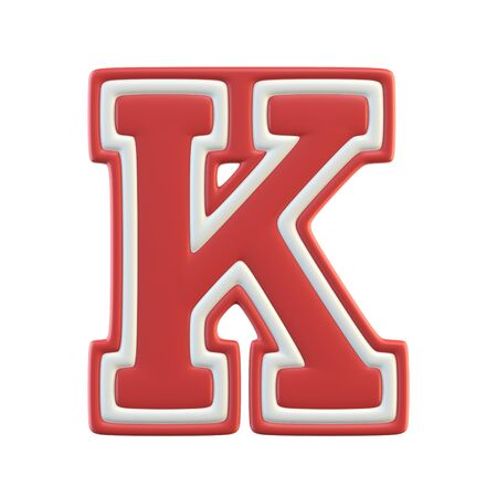 Classic style Sport Team font. Vintage sport font for american football, baseball or basketball, letter K Stock fotó