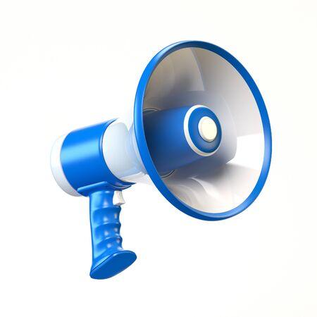 Loudspeaker, megaphone 3d rendering