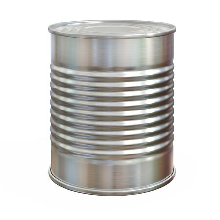 Tin can, aluminum can isolated on white background 3d rendering 版權商用圖片