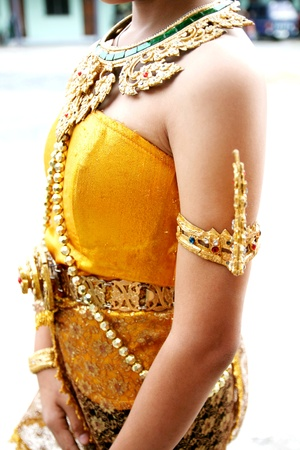 thai costume  clothing  clothes outfit garb garment get-up habiliment array attire Thailand photo
