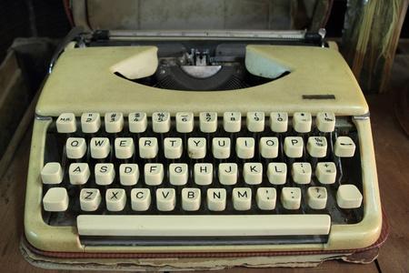old typewriter portable. photo