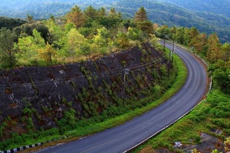 doi: On a mountain road Doi Intanon in thailand.