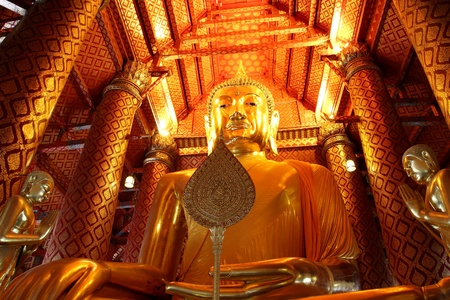 The big buddha of  Wat Phananchoeng Ayuttaya Thailand photo