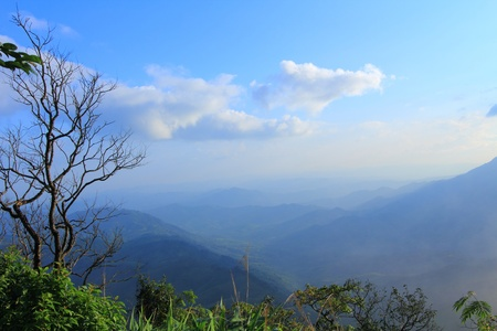 Prairie and mountain is landscape in Petchaboon province,Thailand. photo