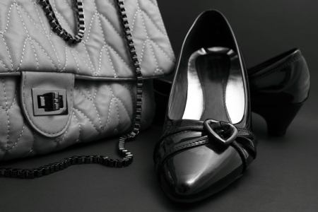 Dress shoes  handbags  necklaces  photo