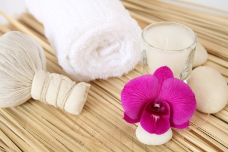 flame like: Thai spa for the body  Stock Photo