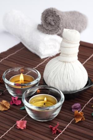 potpourri: Spa Thai ingredient candle, compress and potpourri.