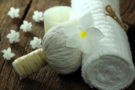 thai massage: Thai massage for health. Stock Photo