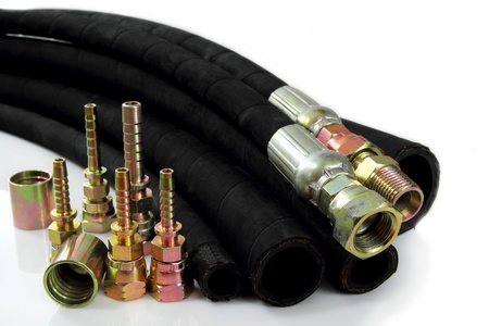 connexion: Hydraulic fittings and  hydraulic  line.