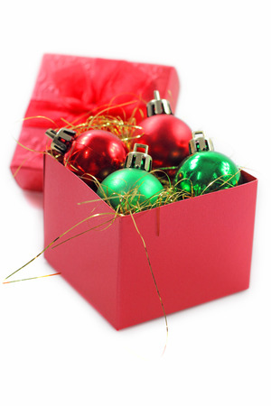 red gift box: Red gift box for celebration. Stock Photo