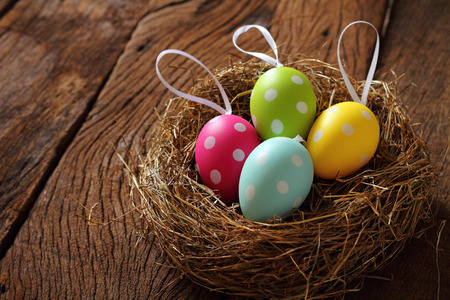 moveable: Easters day  eaggs many color in basket.