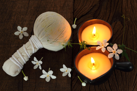 light complexion: Two candle for  massage and spa.
