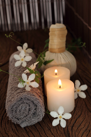 pra: Luk Pra Kob  for Spa and massage. Stock Photo