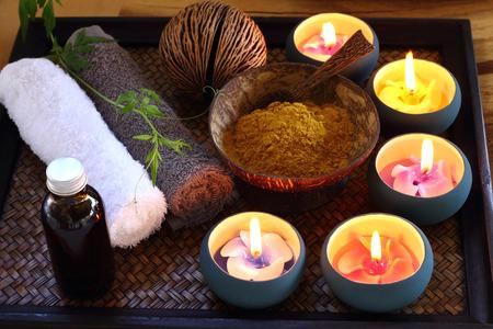 massage: Herbe de pétrole et ingrédient pour Spa et massage.