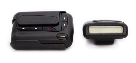 of old times: Pager is communication old times. Stock Photo