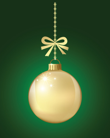 gold chain: Christmas Ball xmas and happy new year  gold background for decoration design holiday.