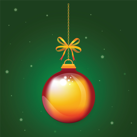 ball chains: Christmas Ball xmas and happy new year for decoration design holiday. Illustration