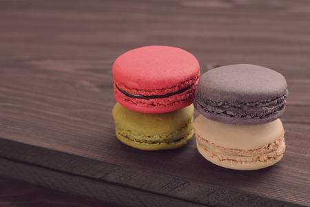 multi color: Macaron multi color is dessert in french.