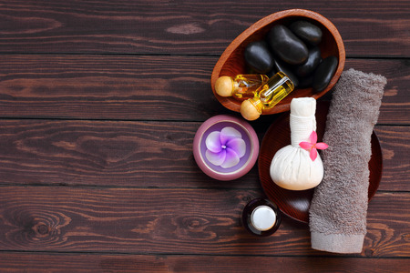 Spa and massage treatment for health body, this picture is high angle shots or birds eye view.