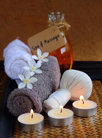 Luk Pra Kob  for Spa and massage. Stock Photo