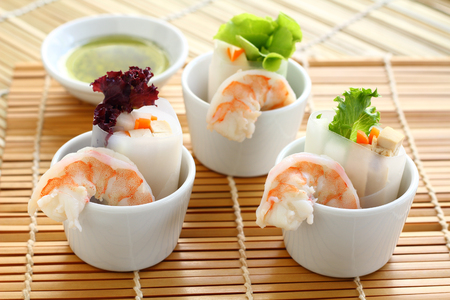 carot: Salad with noodle prawn and vegetable for healty.