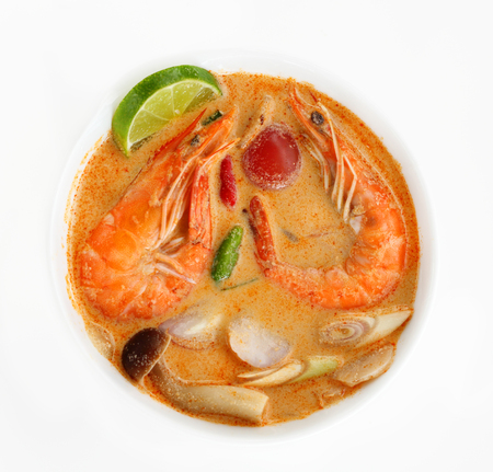 Tom Yum Goong  or Tom Yam Kung is soup food thai, shrimp soup thai is sour taste.