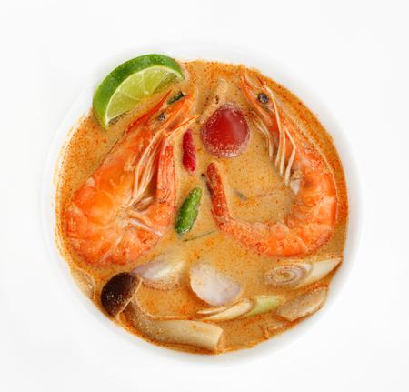 Tom Yum Goong  or Tom Yam Kung is soup food thai, shrimp soup thai is sour taste.