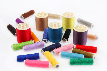Thread multi color of relating to fabric or weaving.