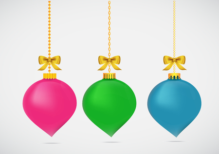 Christmas ball x-mas and happy new year for decoration design holiday. Illustration