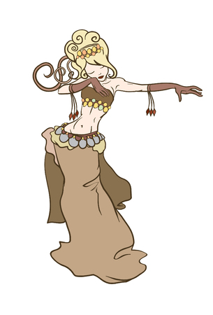 arabian harem: belly dancer Illustration
