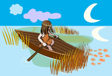 loner: boat Illustration